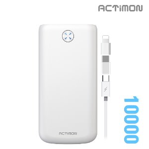 보조배터리 10000mAh( 5 PIN Cable + C , 8 Gender )MON-P-K10000